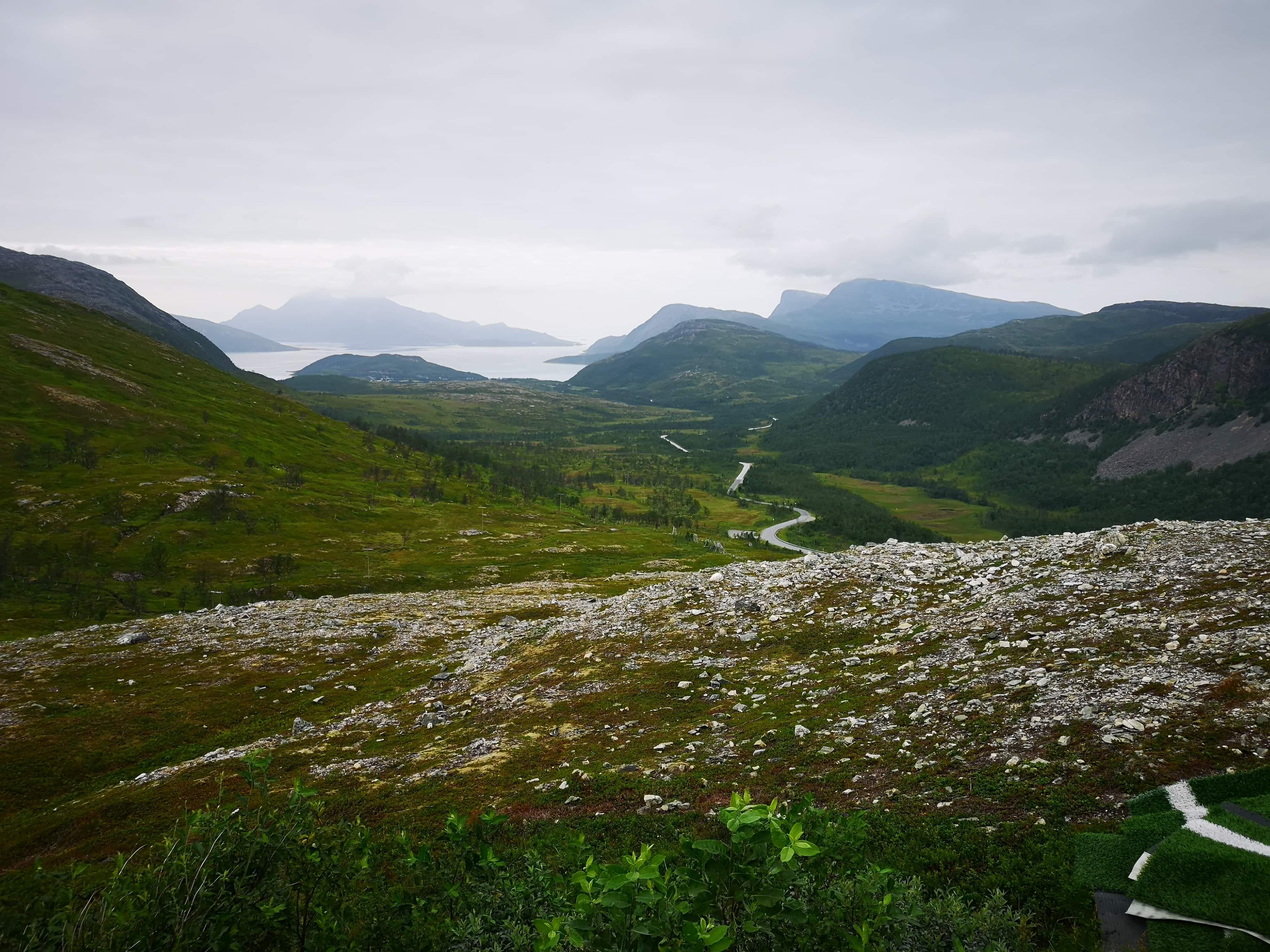 Panoramic Tromso Green mountains