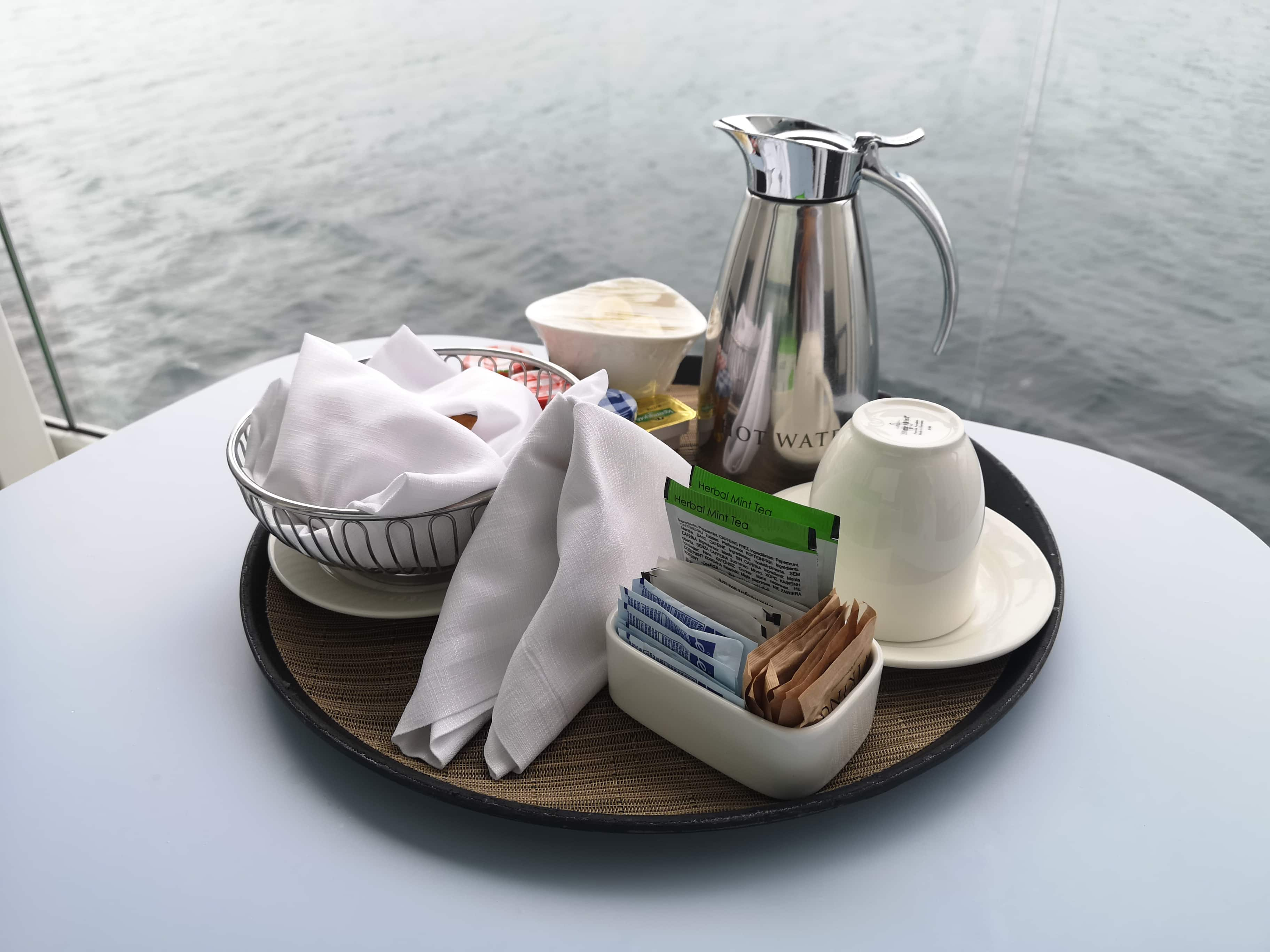 Viking Cruises Sea - Room Service Breakfast Tea Banana Toast