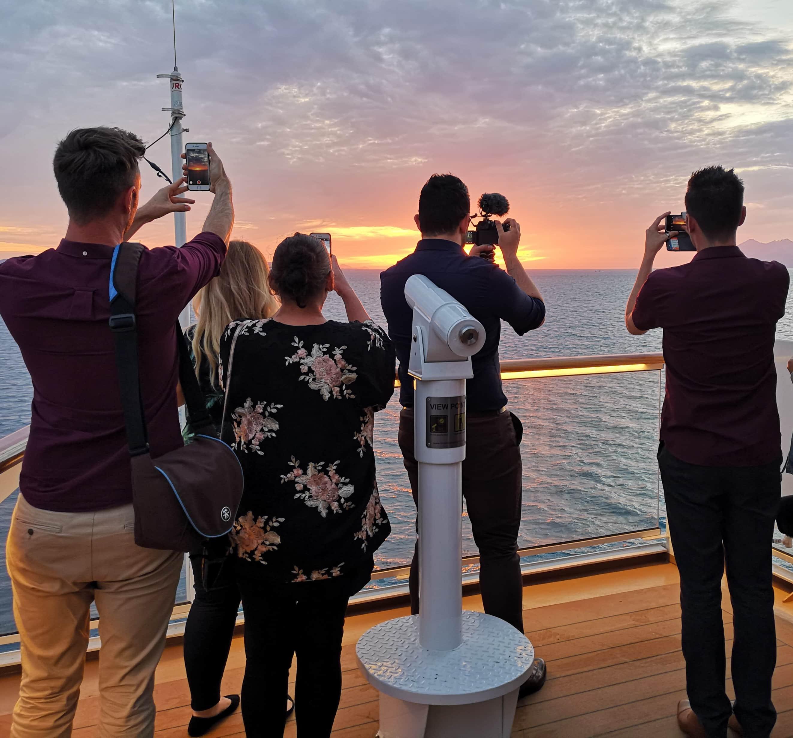 Viking Cruises Sea - Midnight Sun - Tromso - Taking pictures of sunset