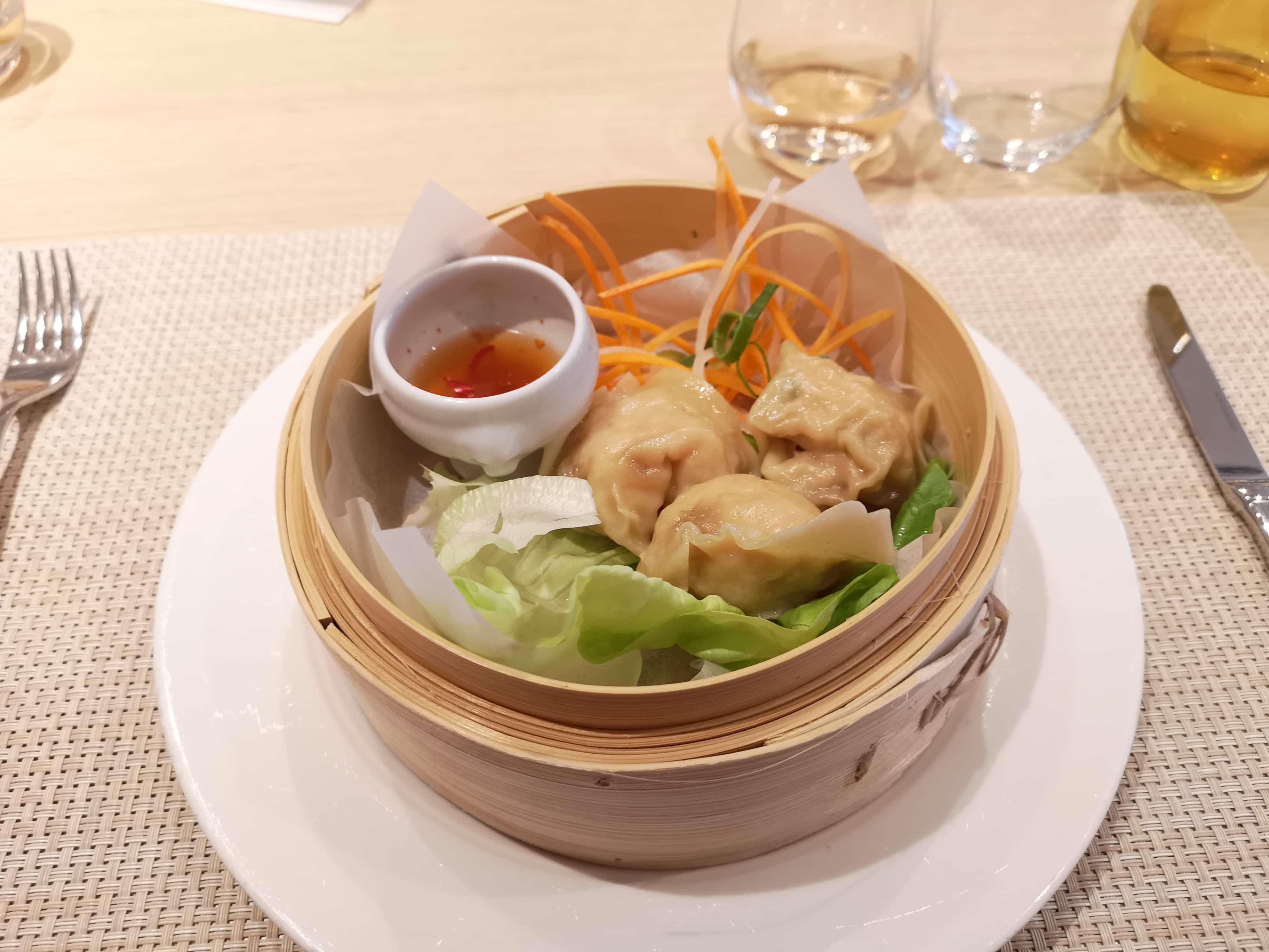 Viking Sea Cruises - Chefs Table - Lobster Dumplings