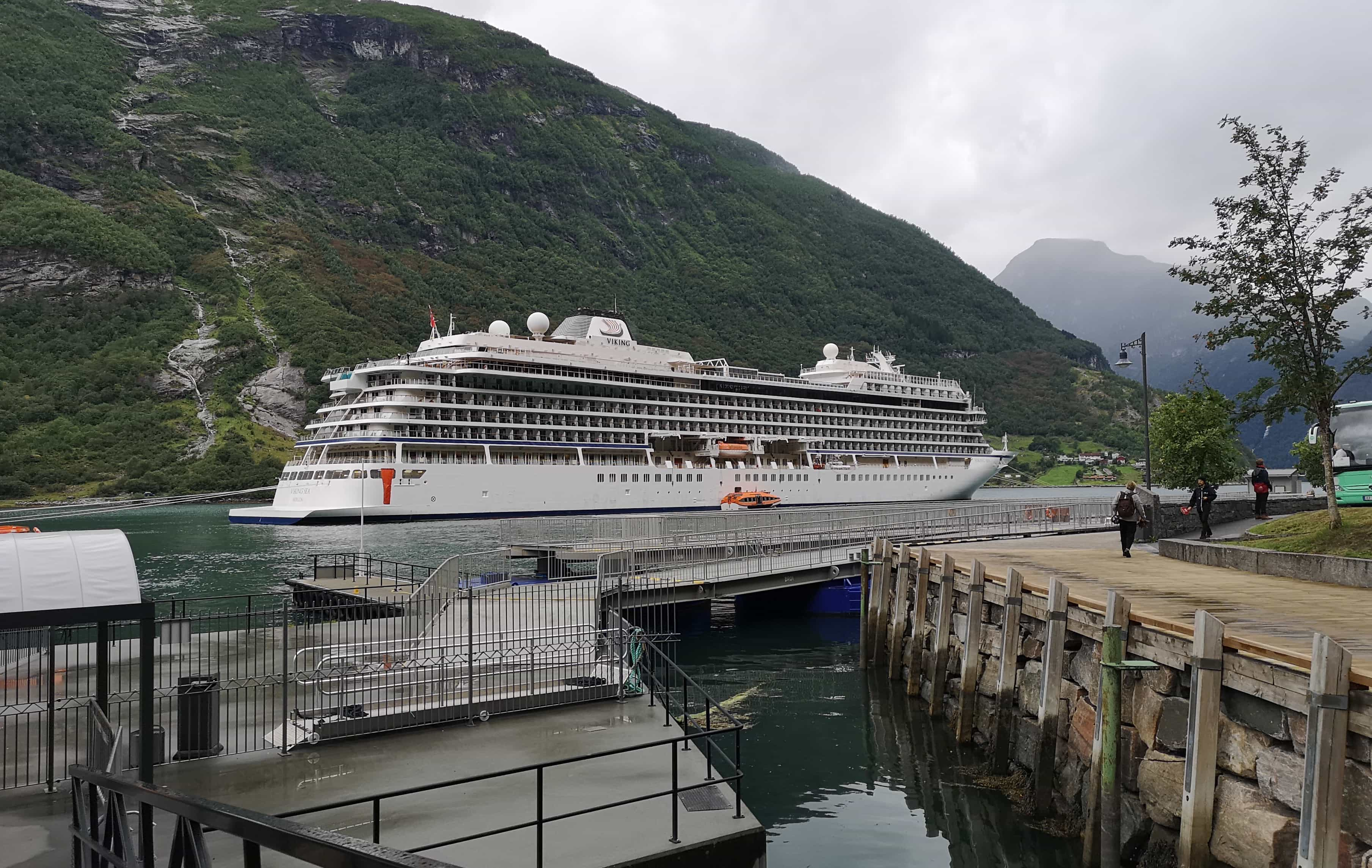 Viking Sea Cruise Ship Geiranger