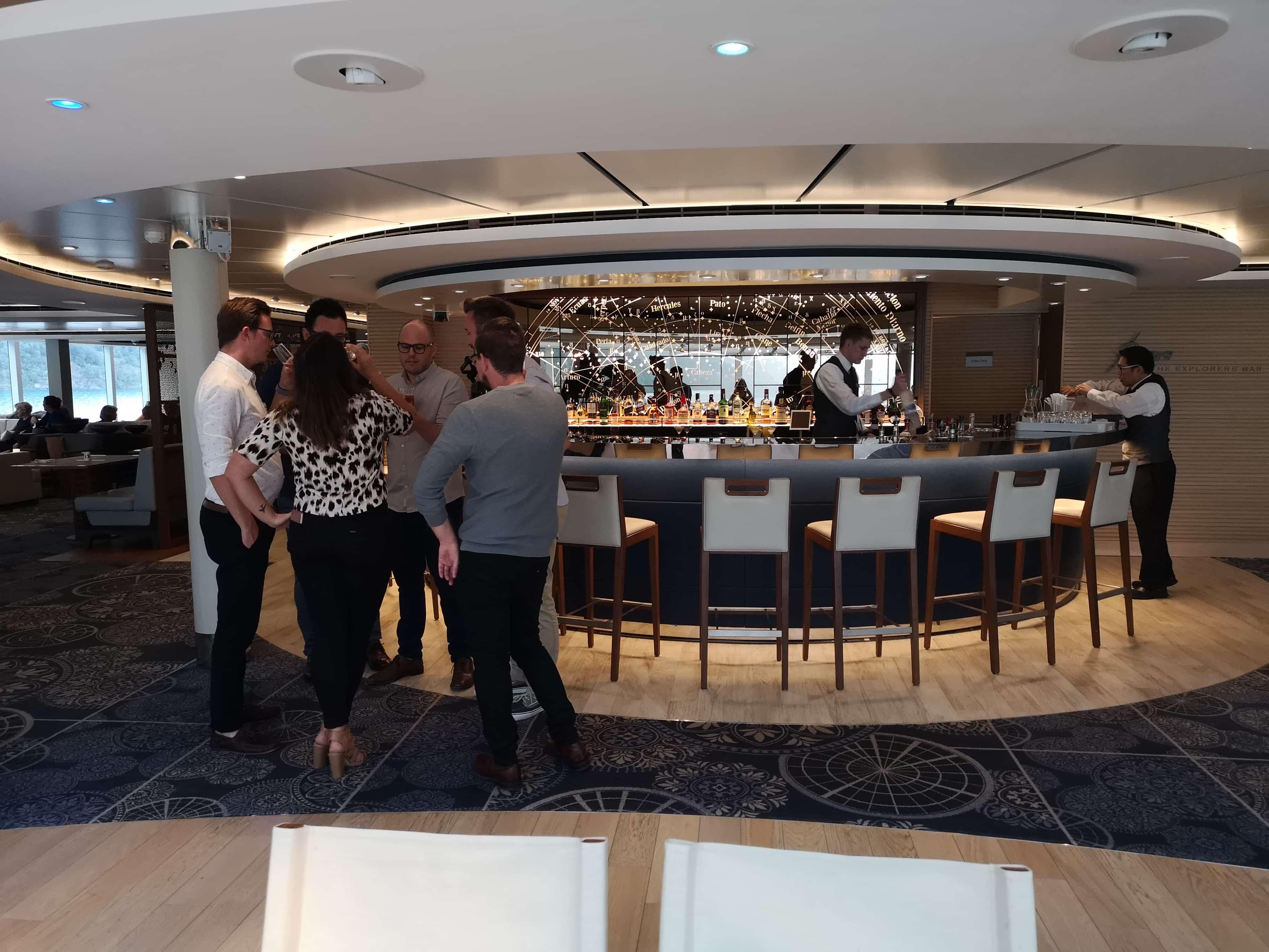 Explorers Lounge Viking Sea Cruises Bar Drinks Alcohol