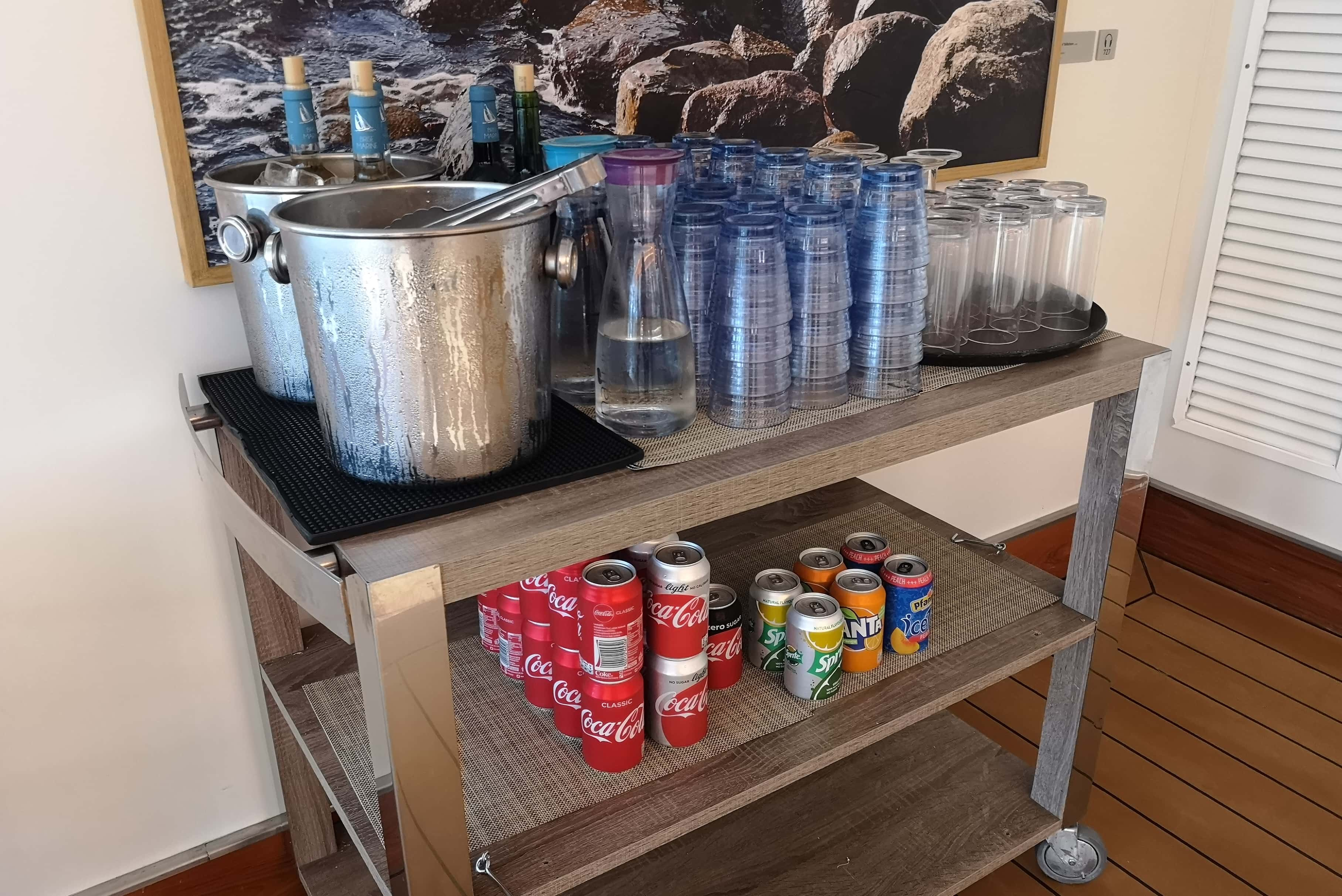 Viking Cruises Sea Drinks with Lunch and Dinner Soda Beer and Wine Pool Grill