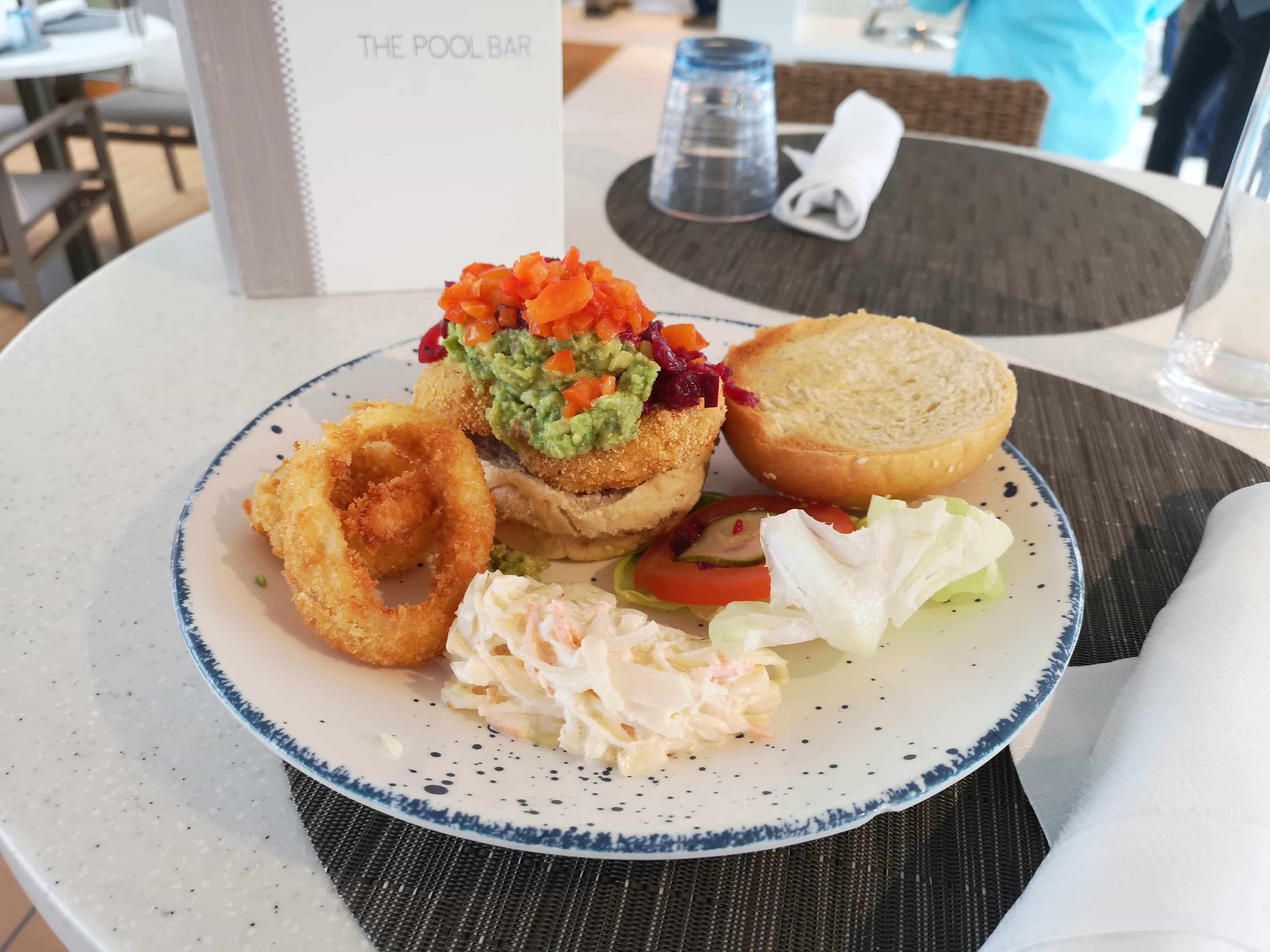 Viking Sea Cruises Pool Grill Burger Vegetable