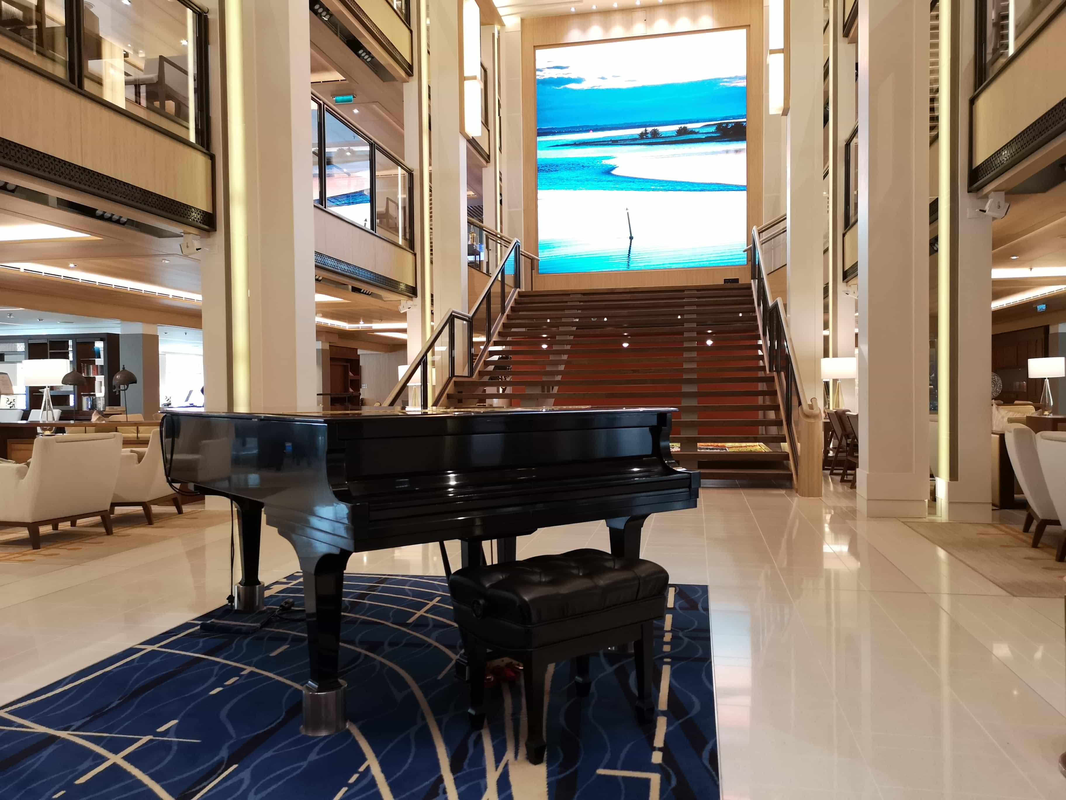 Viking Sea Cruises Atrium Piano Stairs