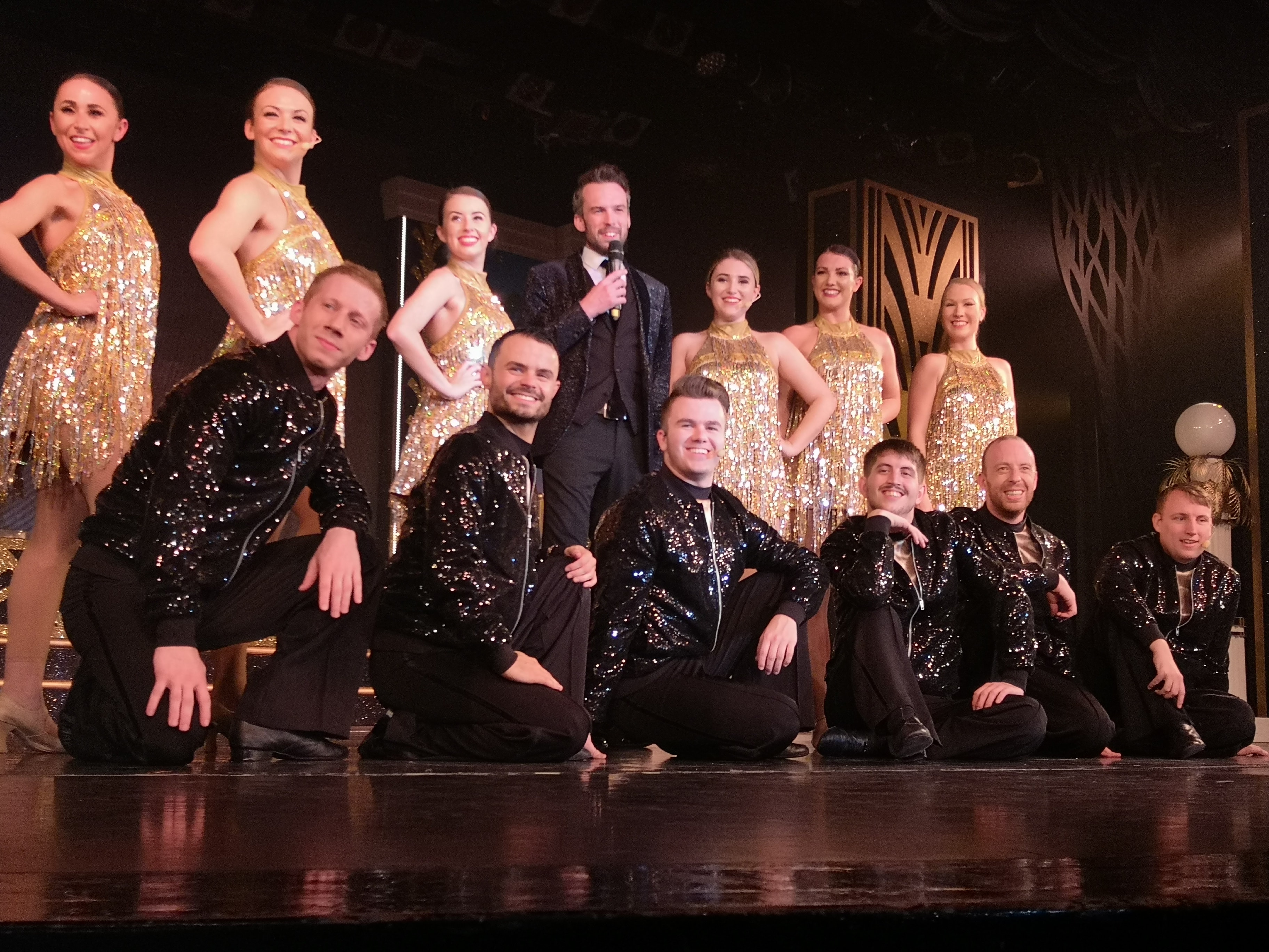 Marella Cruises Discovery Show team on theatre stage