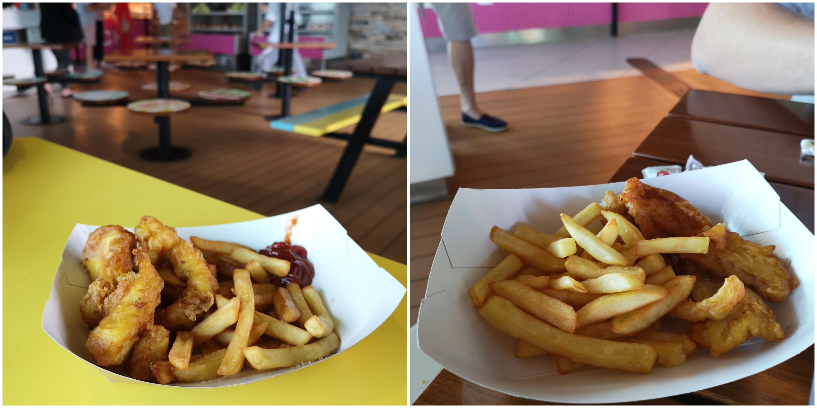 fish and chips from the snack shack marella discovery