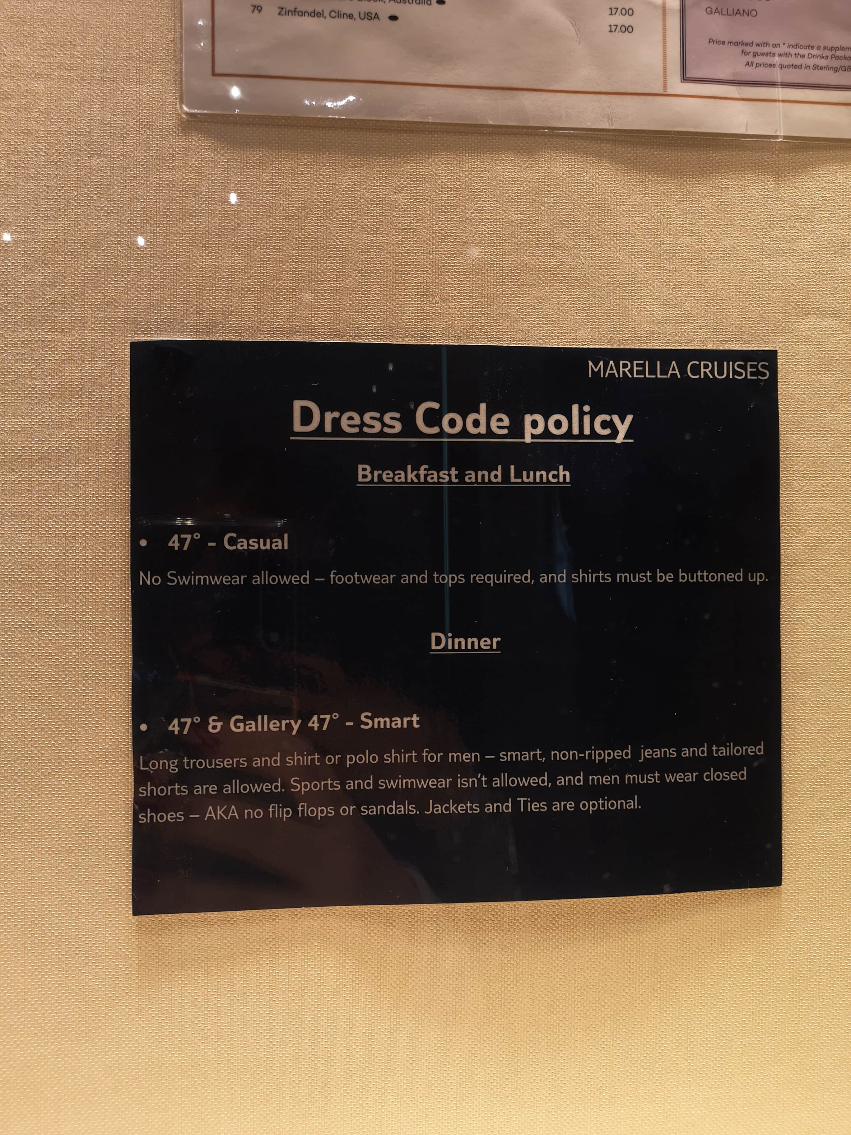 Marella Discovery Main Dining Room Dress Code Policy Splendor of the seas breakfast and lunch smart 47 degrees