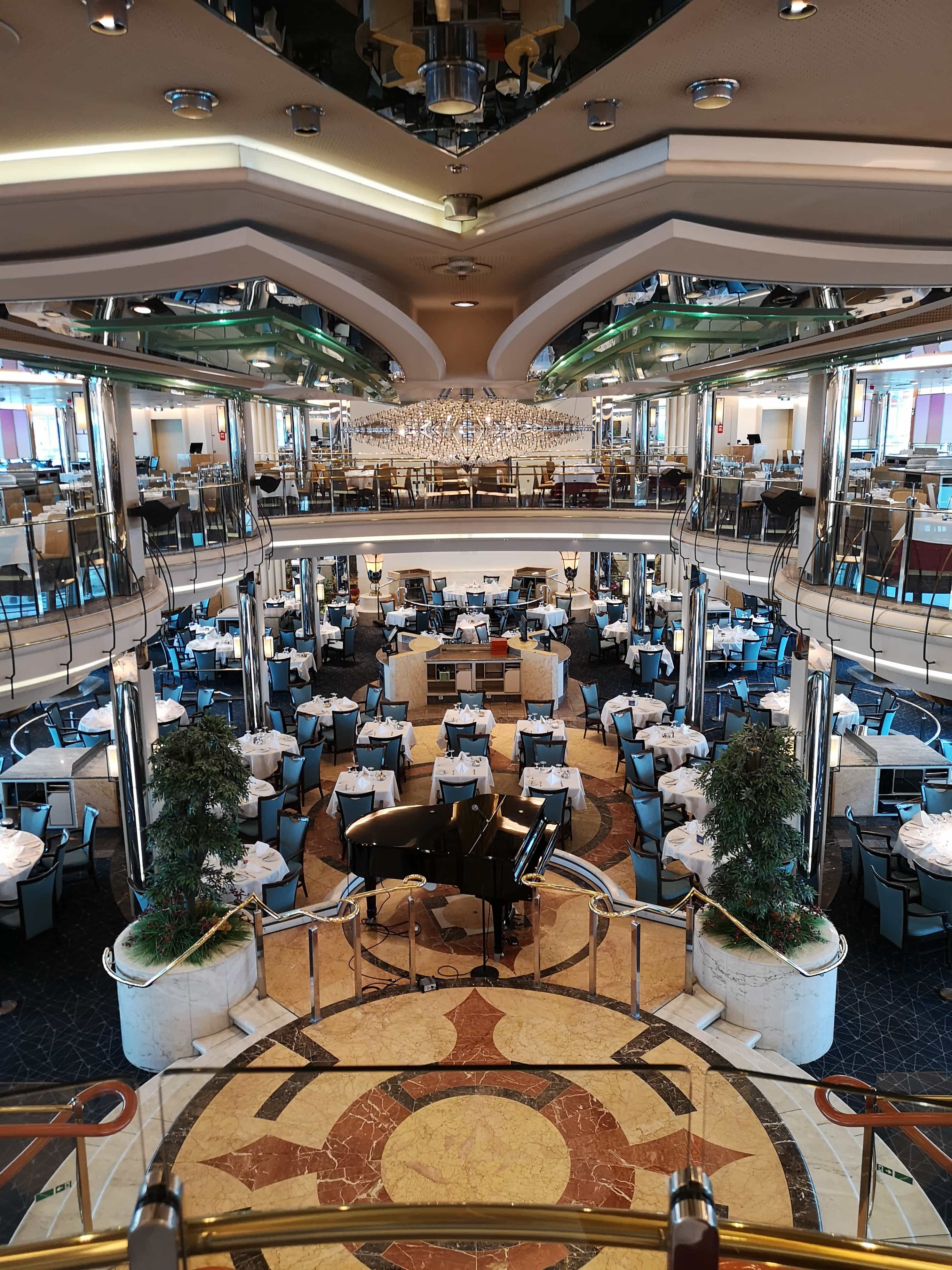 Marella Discovery Main Dining Room 47 degrees