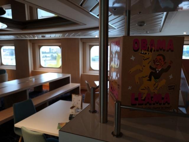 Marella Discovery Yellow Alpaca Llama Coffee Port Games Obama Llama