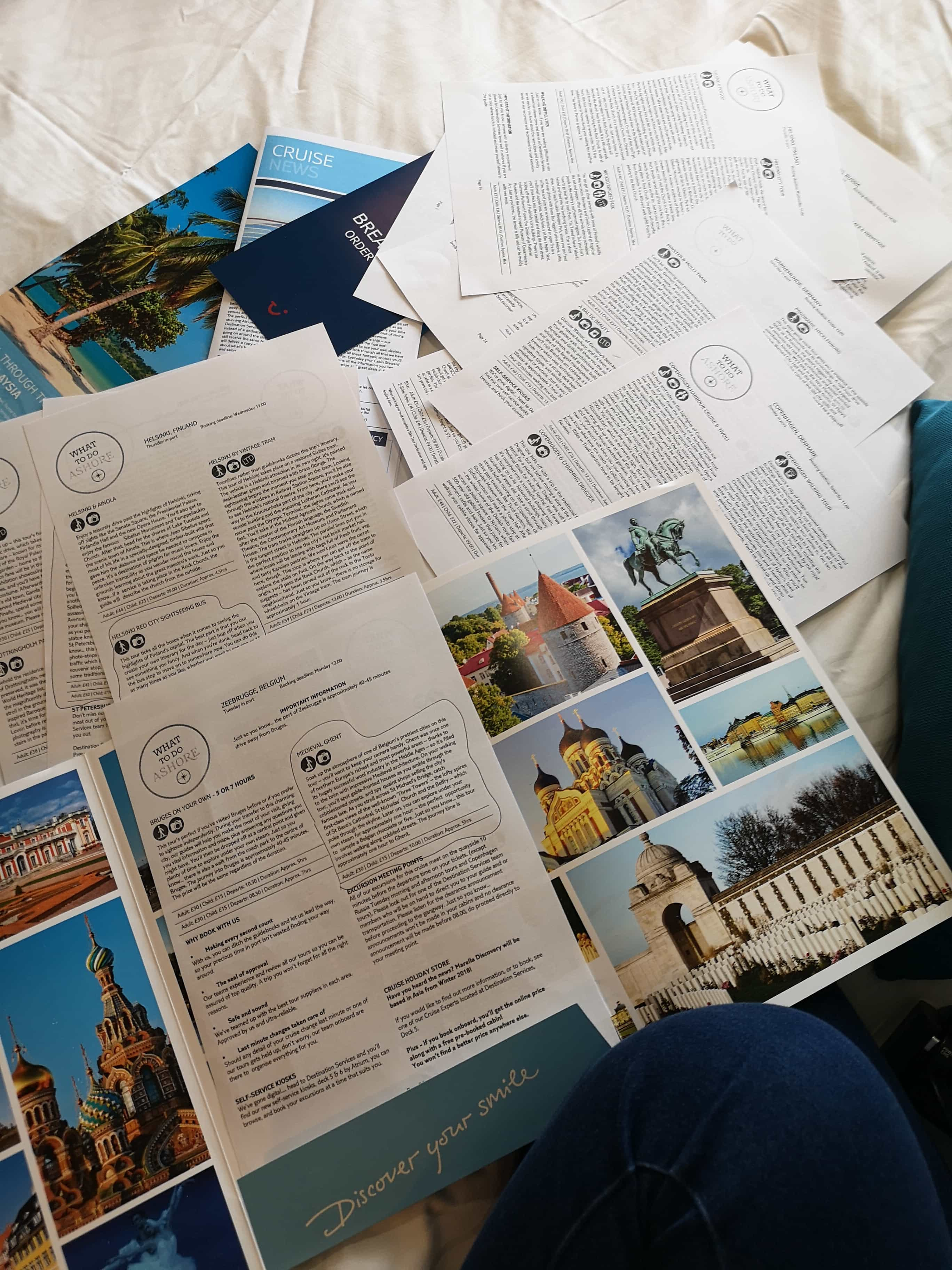 Marella Discovery Excursions  Leaflets