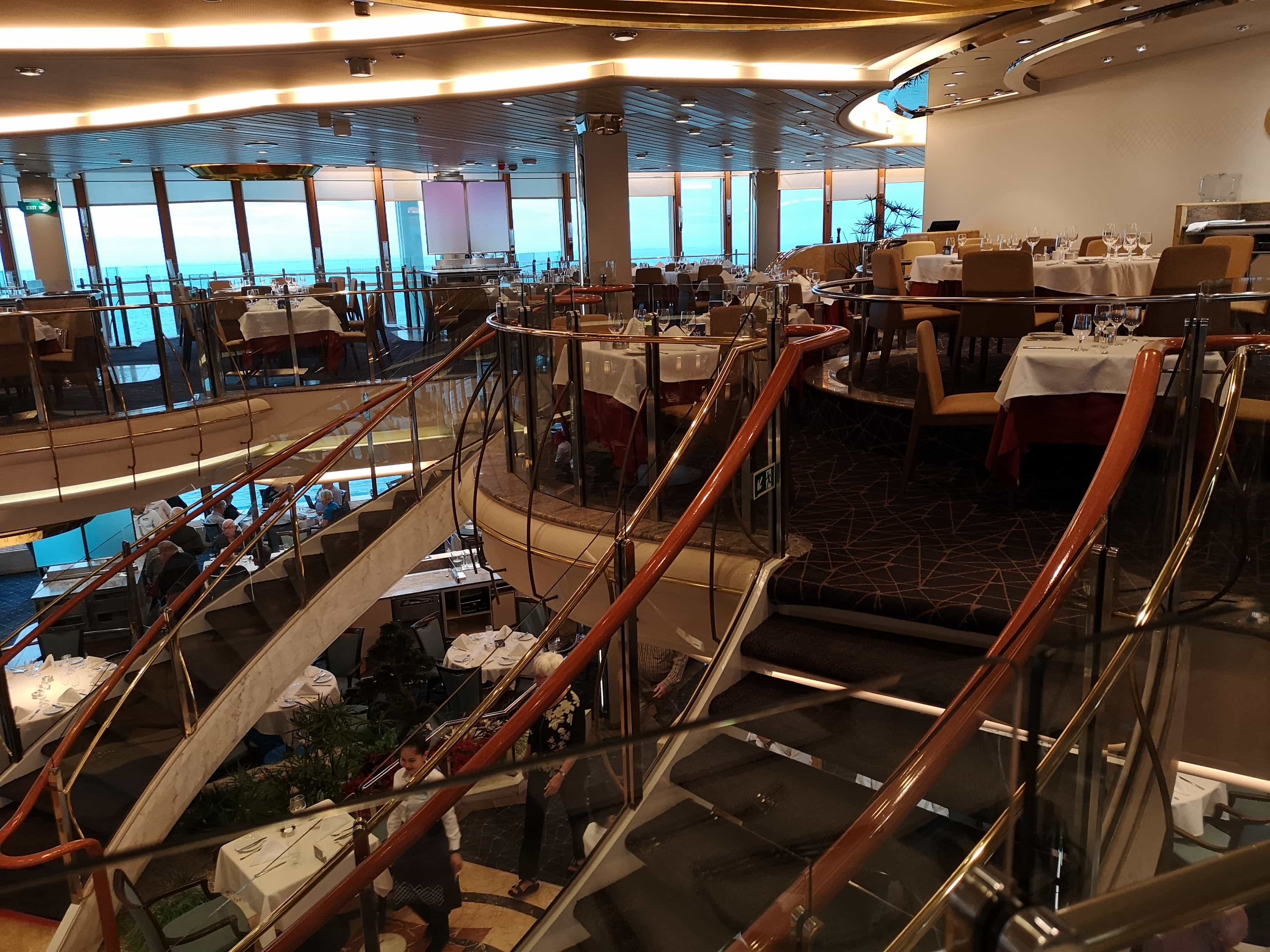 Marella Discovery Main Dining Room Gallery 47 degrees top level