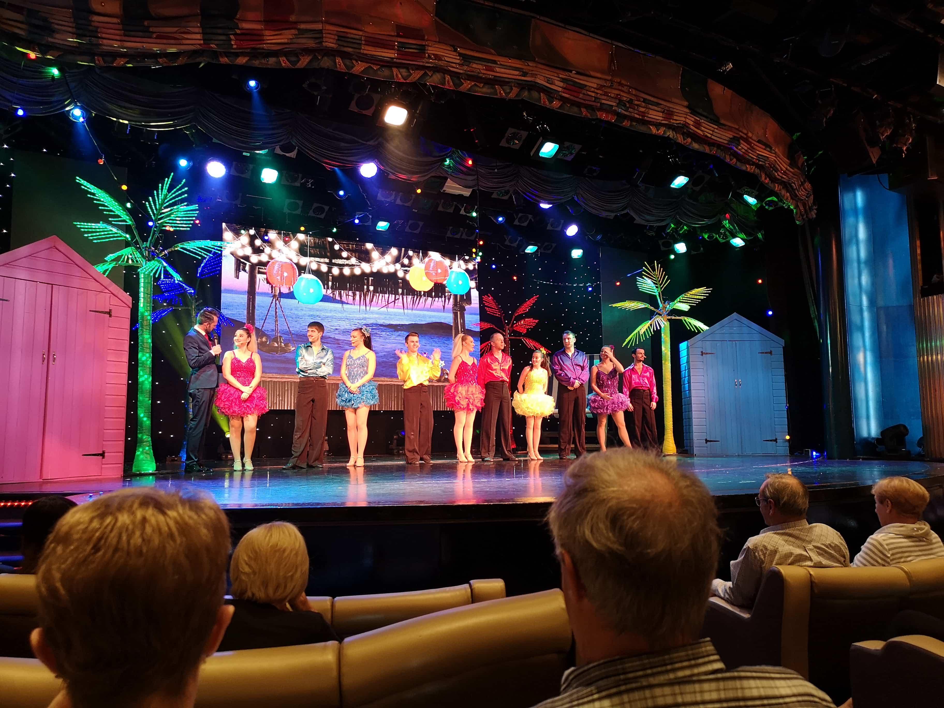 Marella Discovery Entertainment Showteam Sebby Mercury Broadway Show lounge Theatre