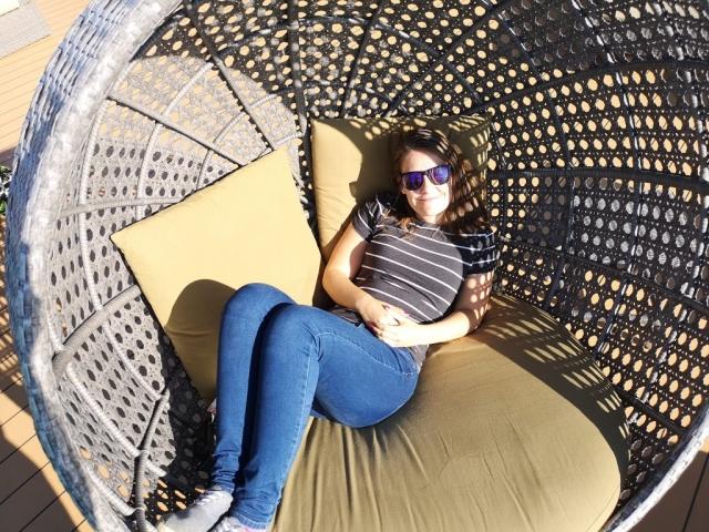 Marella Discovery Veranda Sun Loungers Egg Chairs