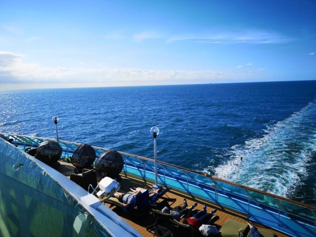 Marella Discovery Veranda Sun Loungers  Ocean View Horizon