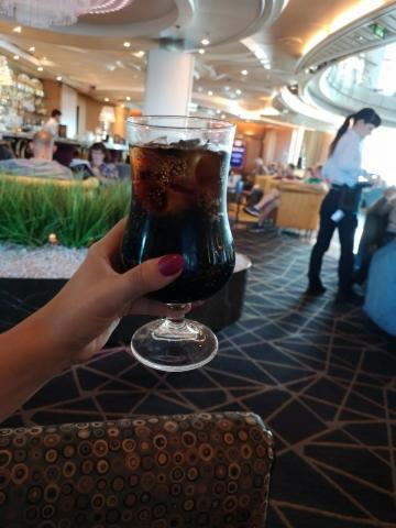 Marella Discovery Atrium Bar Drinks Coke Soda All Inclusive