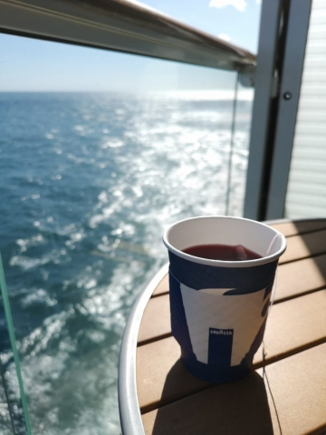 Marella Discovery Coffee Port Tea on Balcony