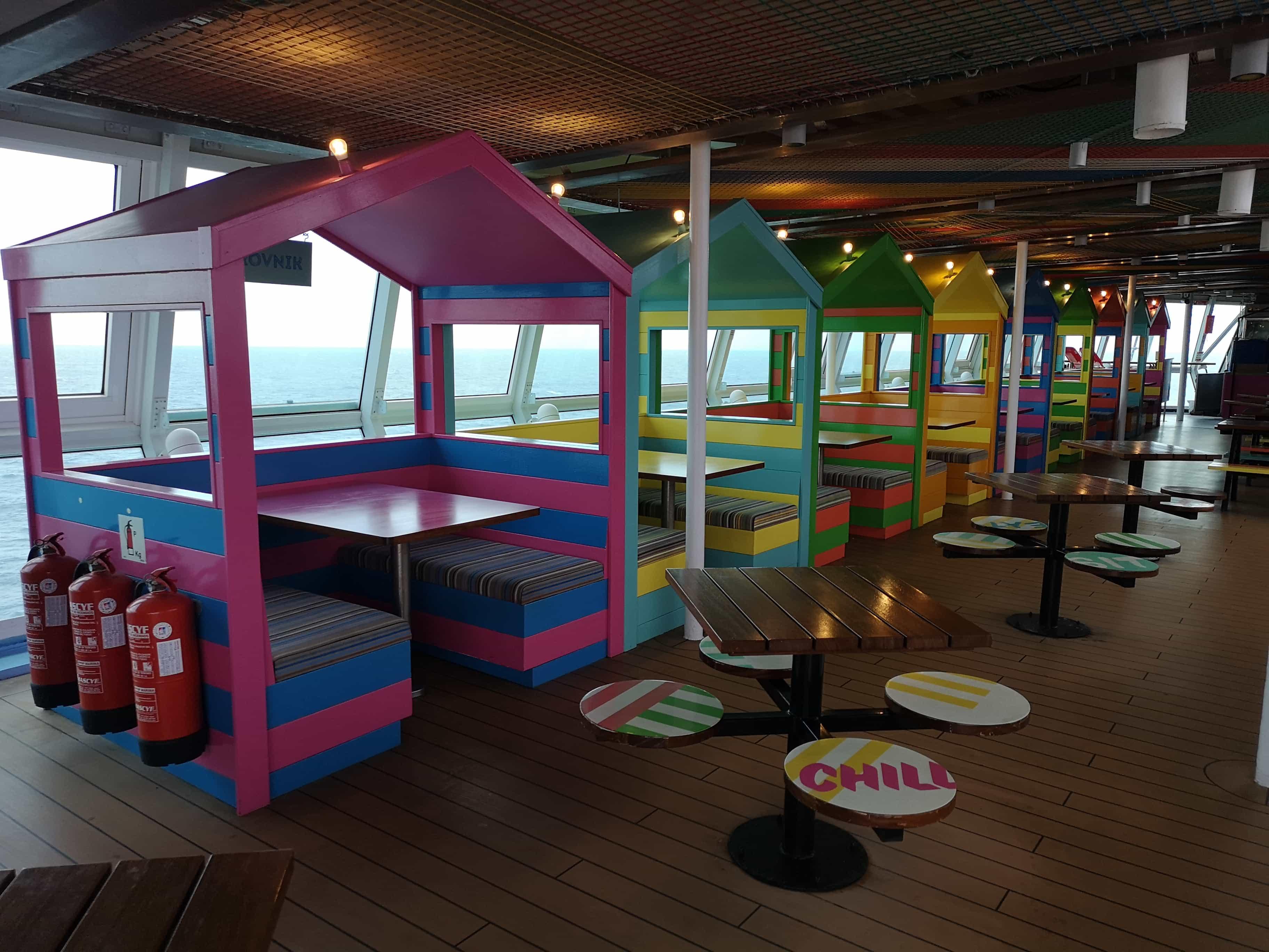 Marella Discovery Snack Shack  Colourful Beach Huts
