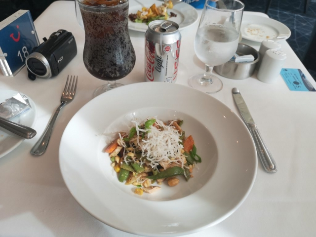 Marella Discovery Main Dining Room 47 Degrees Starter Salad