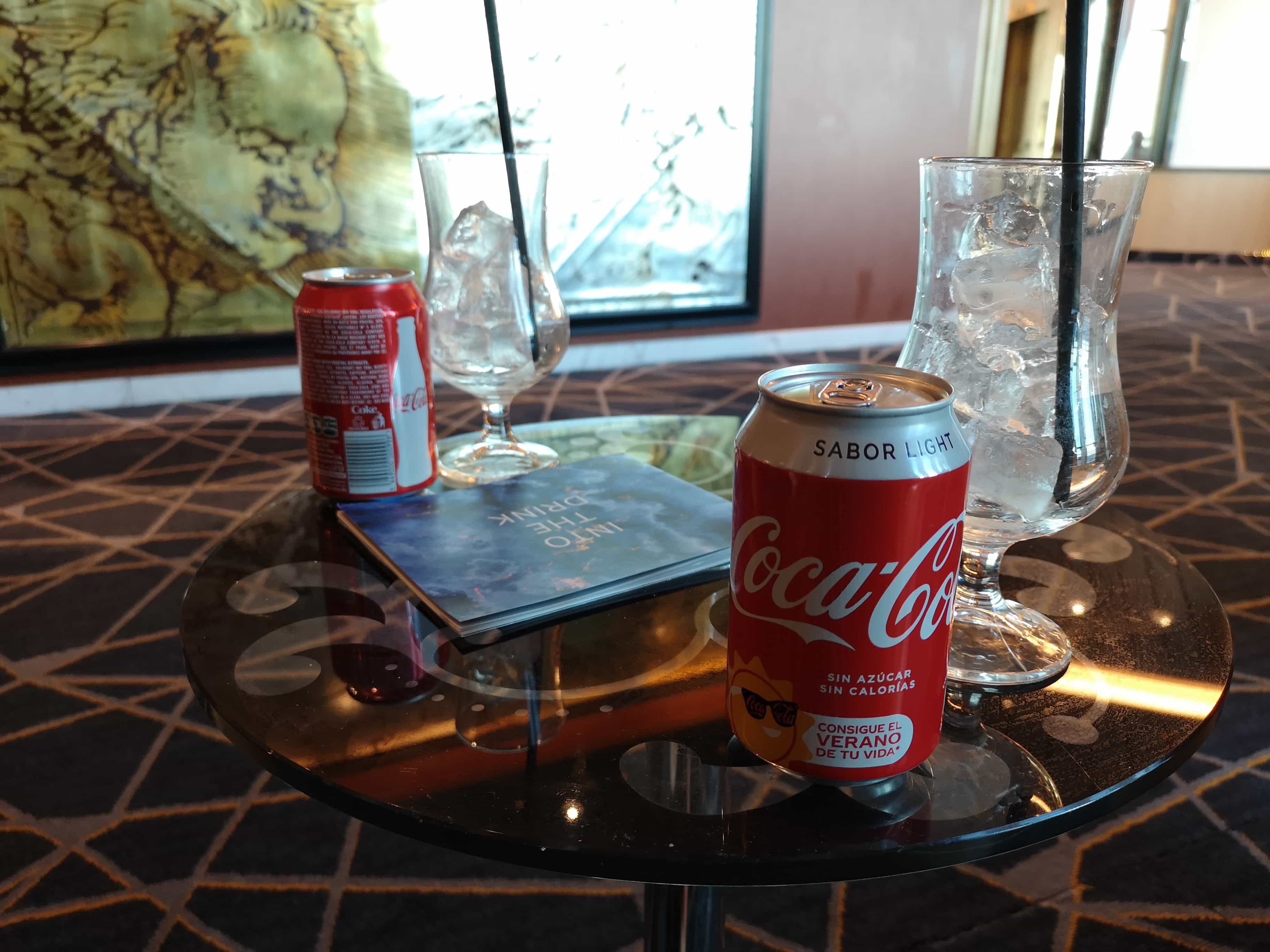 Marella Discovery Atrium Cans of Coke Drinks Premium beverage package