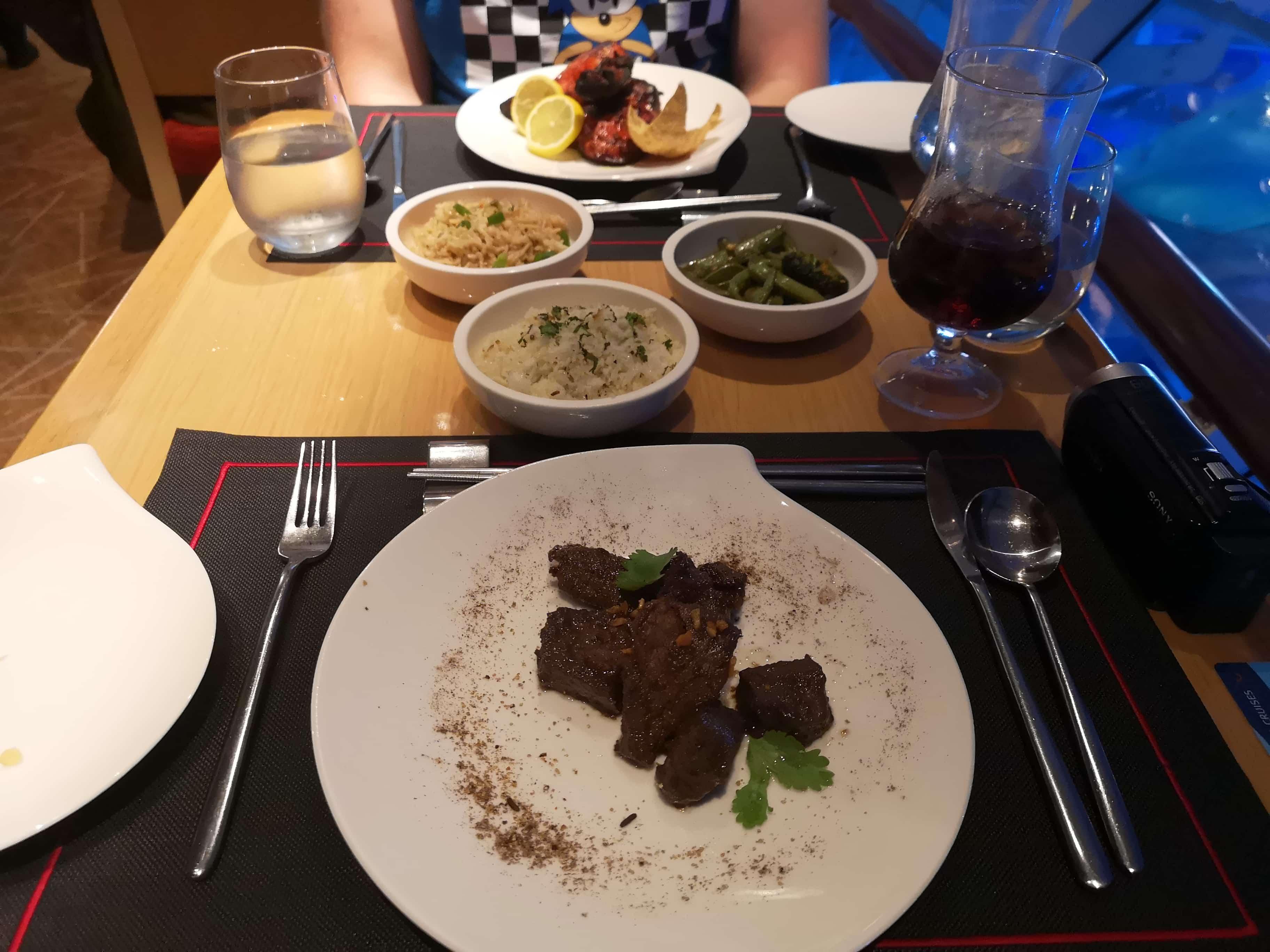 Marella Discovery Kora La Mains Shaking Beef Rice Asian Speciality Restaurant
