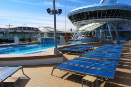 Marella Discovery Cruises Pool Deck Sun Loungers Swimming Pool