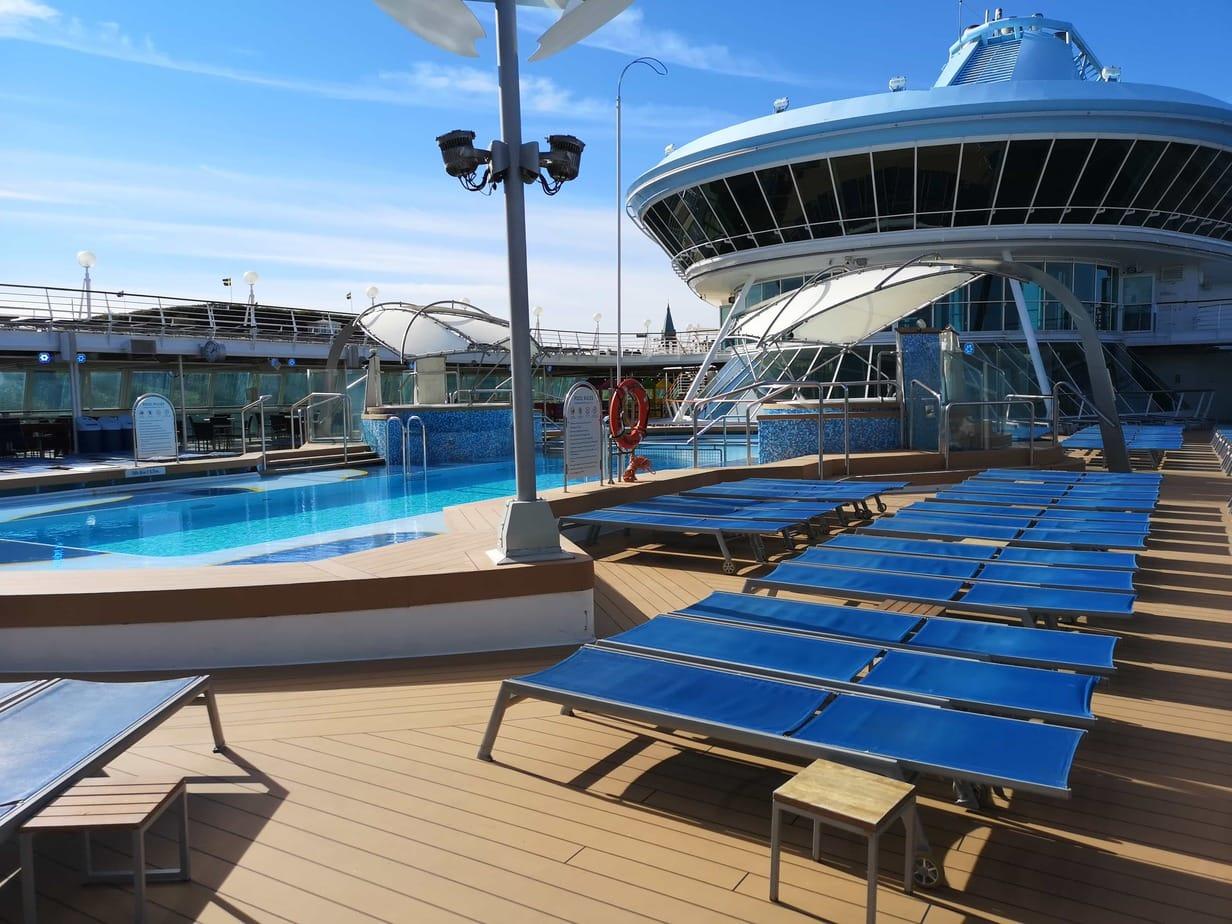 Marella Discovery Cruises Pool Deck Sun Loungers Swimming Pool