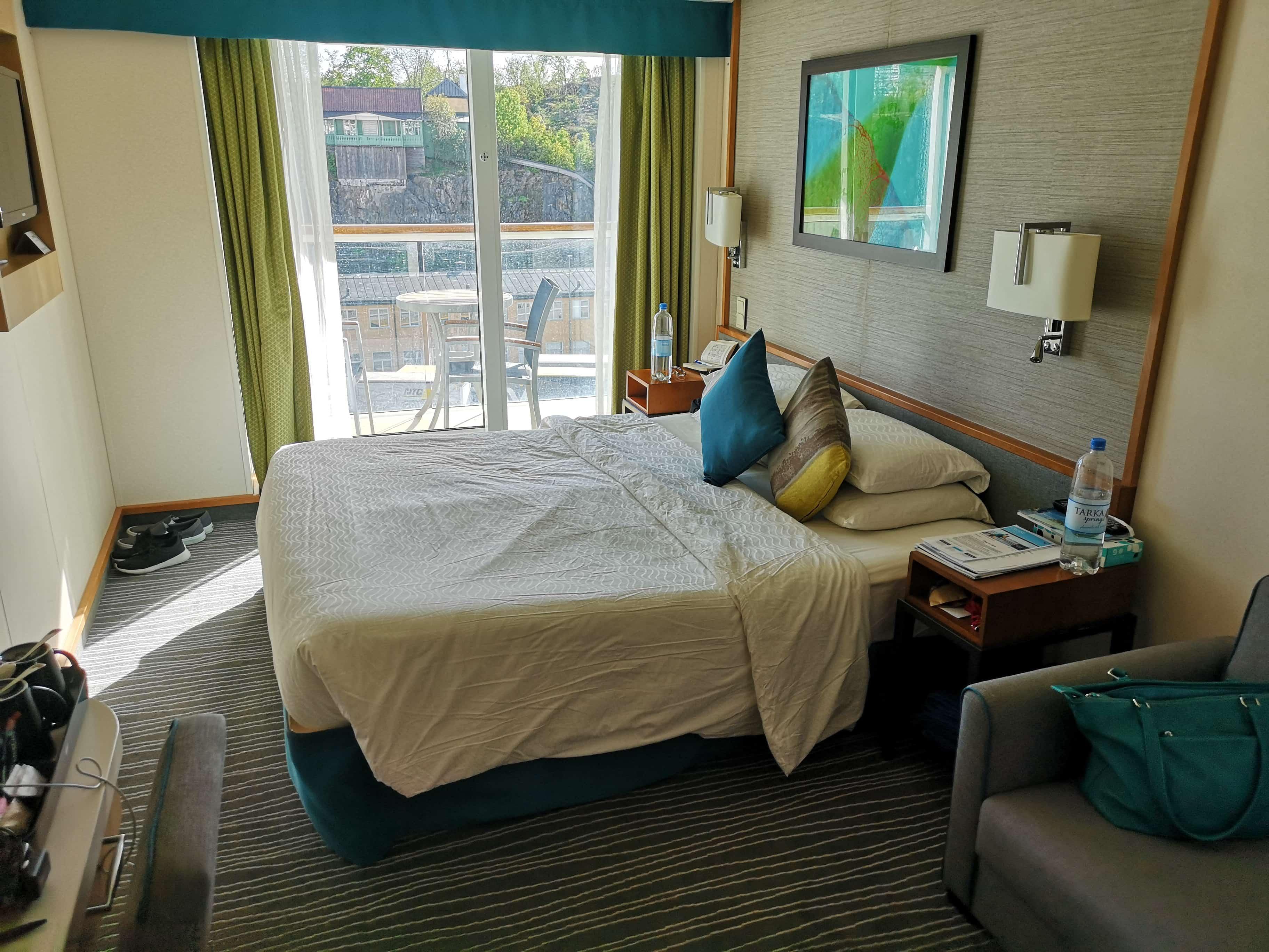 Marella Discovery Balcony Cabin Bed Chair Desk TV