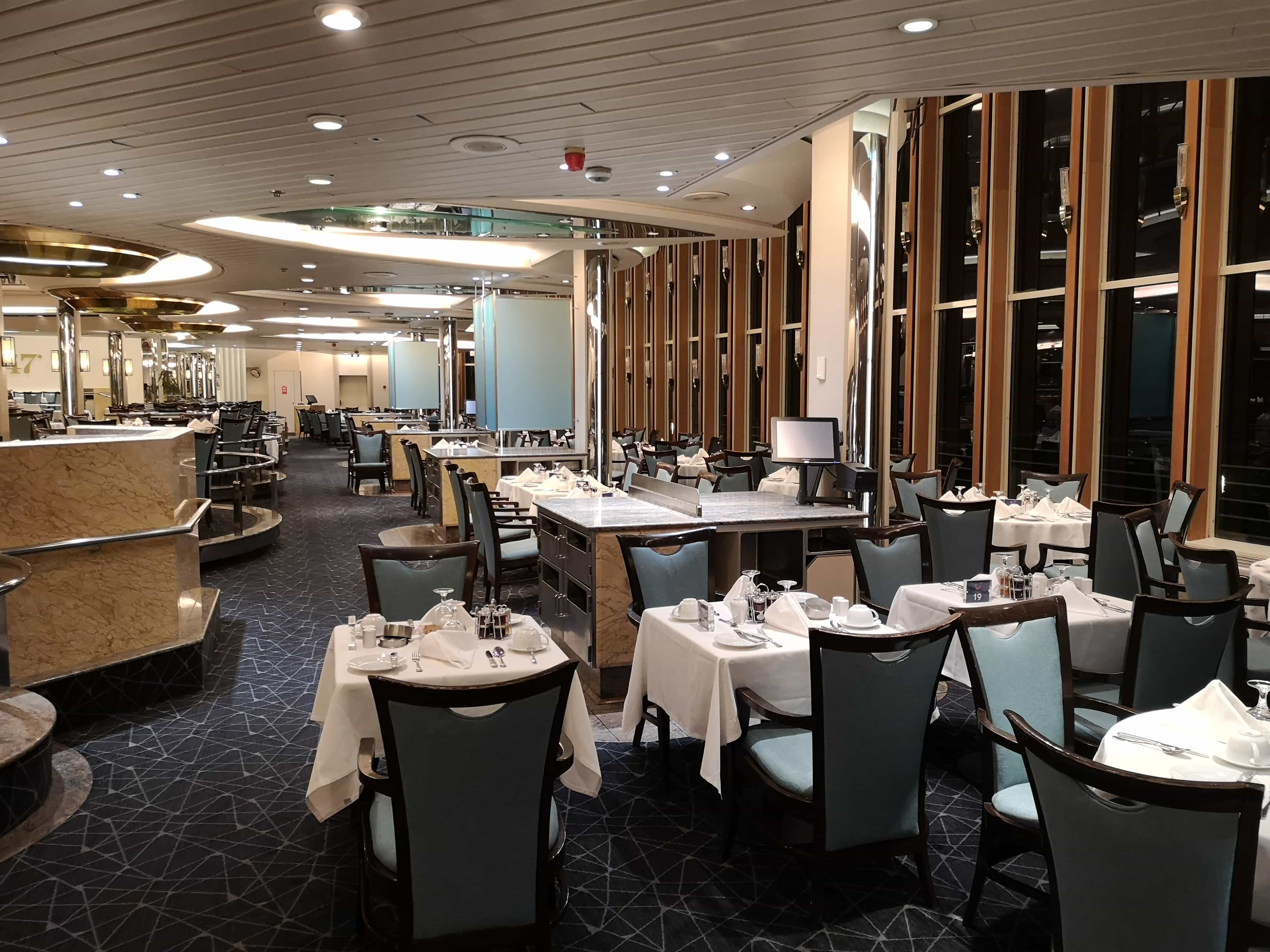 Marella Discovery Main dining room 47 degrees multi level