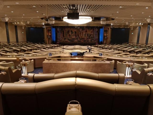 Marella Discovery Theatre Broadway showlounge seating