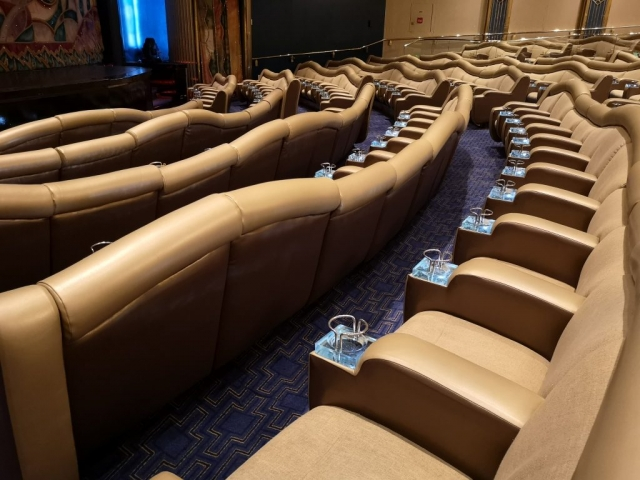 Marella Discovery Theatre Broadway showlounge seating  cup holders