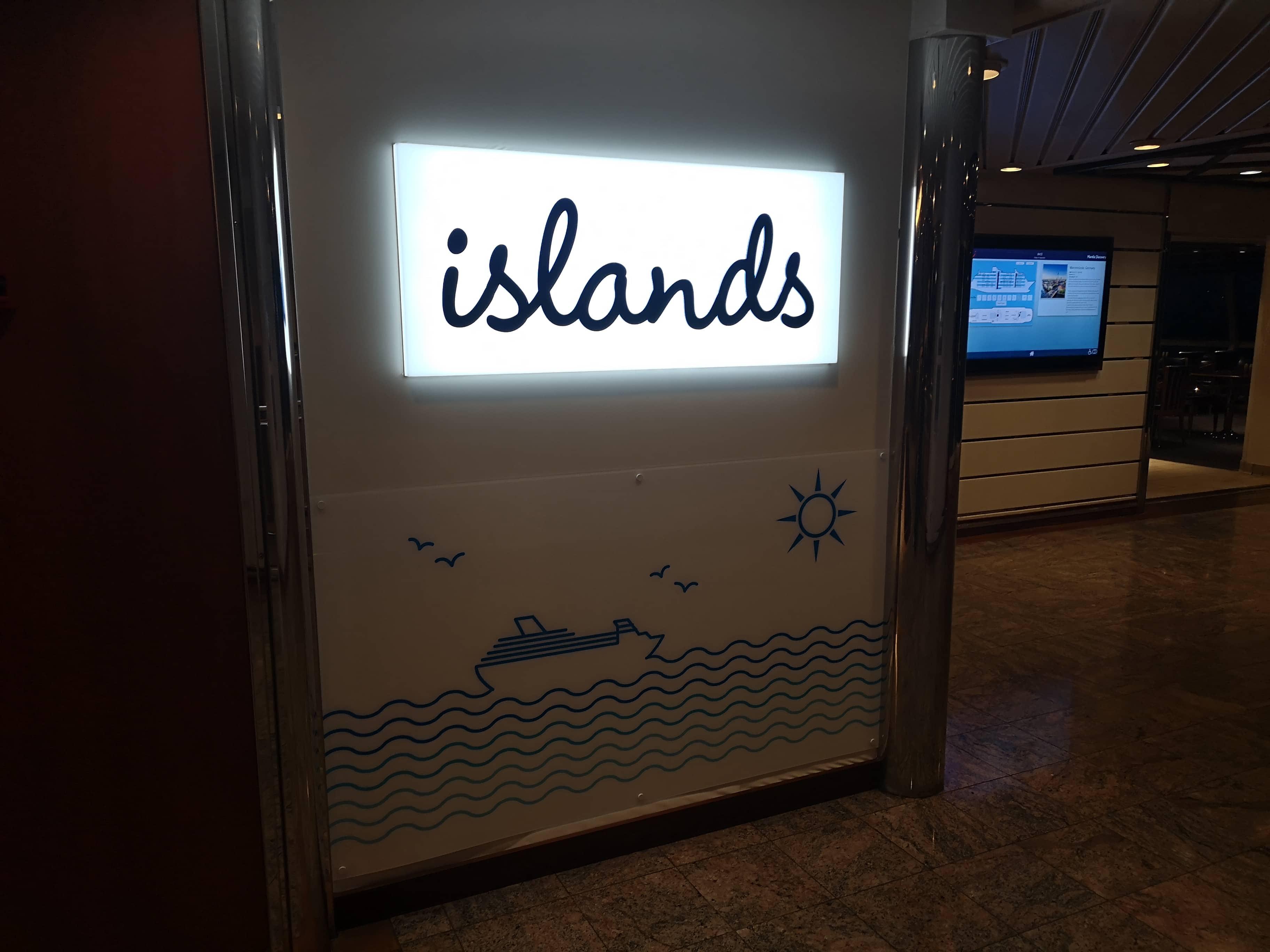 Marella Discovery Buffet food Islands