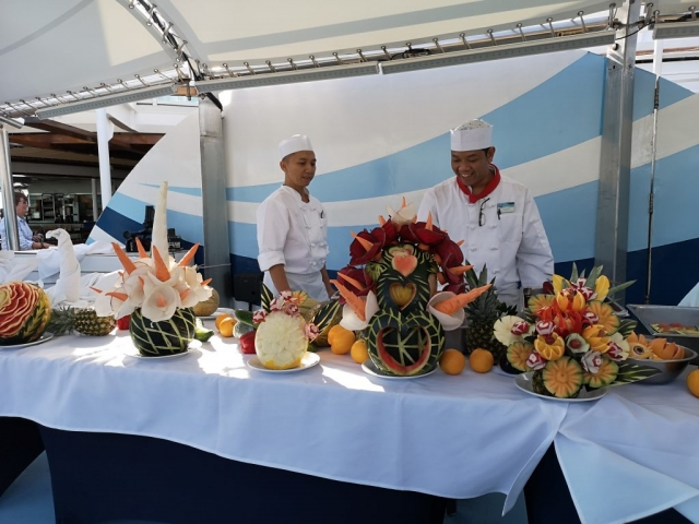 Marella Discovery Fruit Carving Top Deck