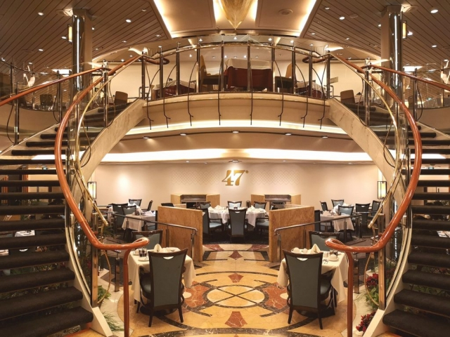 Marella Discovery Main Dining Room 47 Degrees stairs