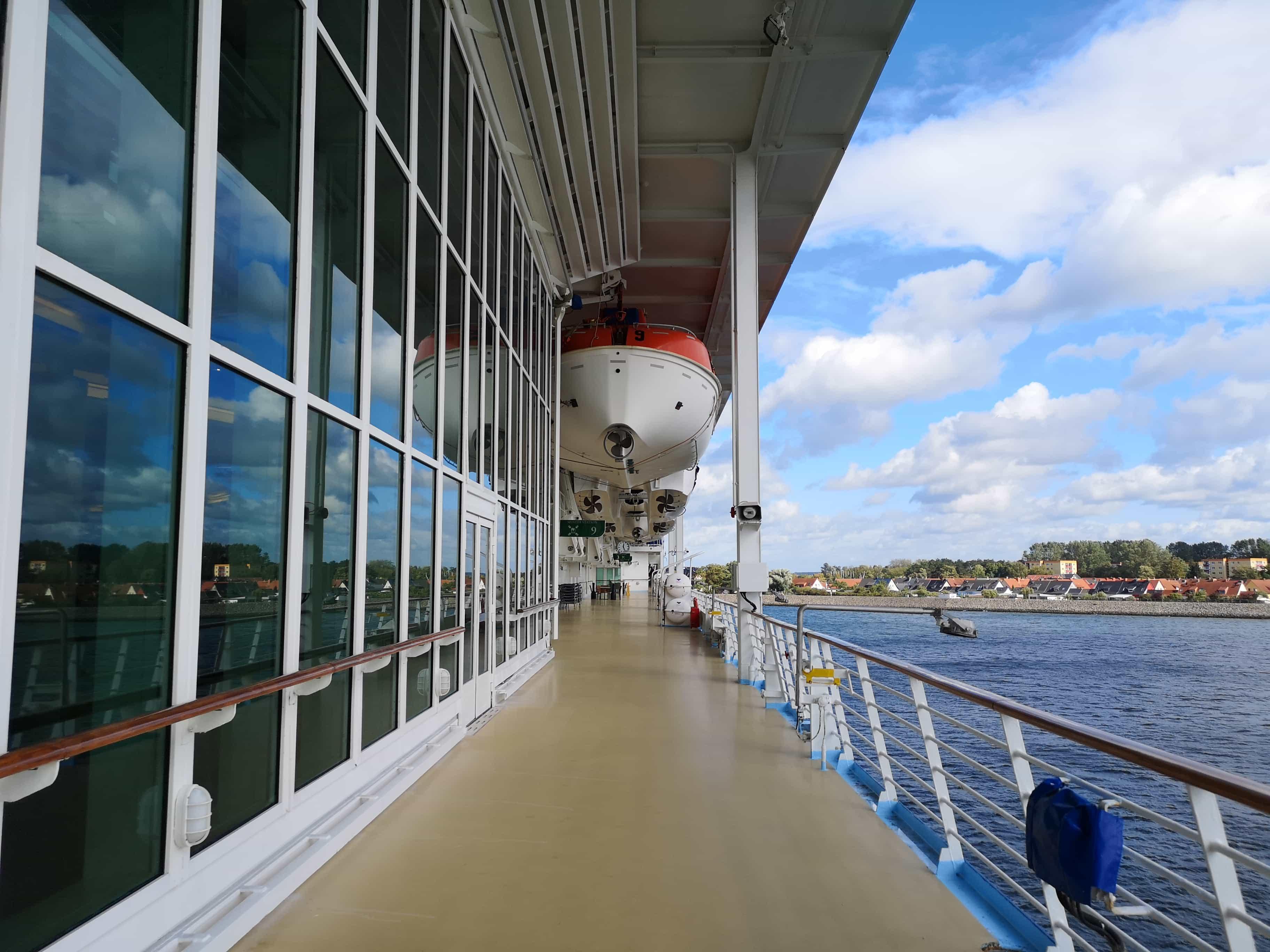 Marella Discovery Promenade Deck Life Boats Wrap around