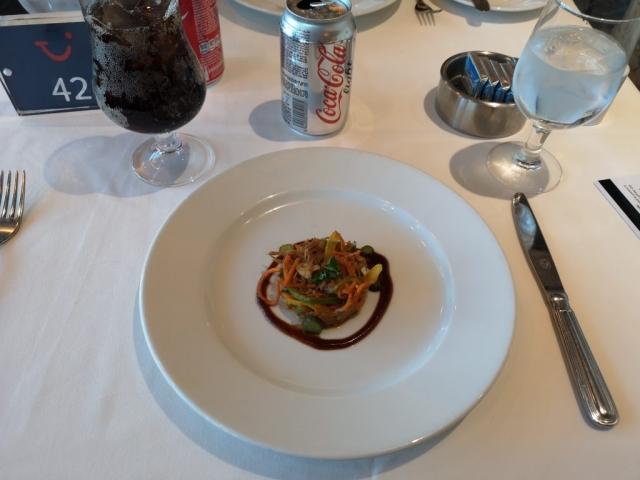 Marella Discovery Main Dining Room Starter Coke