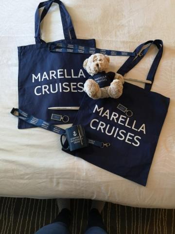 Marella Discovery Gift shop bag keyring teddy mug and pens