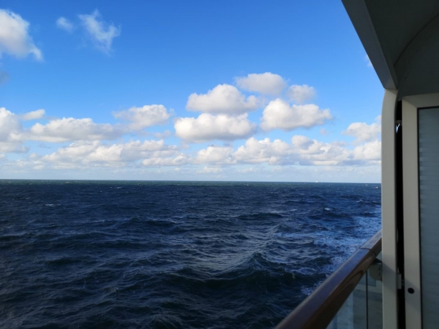 Marella Discovery Balcony Clouds and Ocean