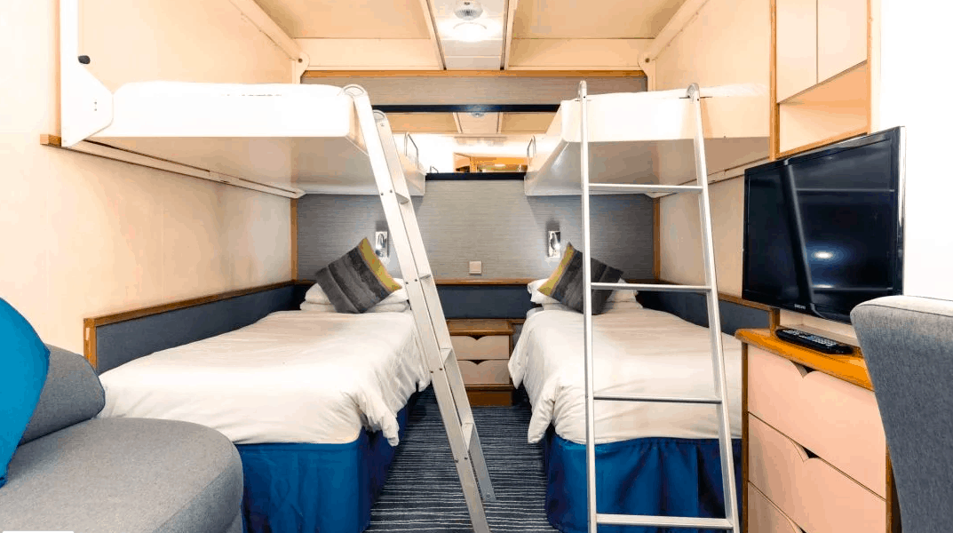 Marella Discovery Tui Inside Cabin Stateroom 3 4 adults pullman beds