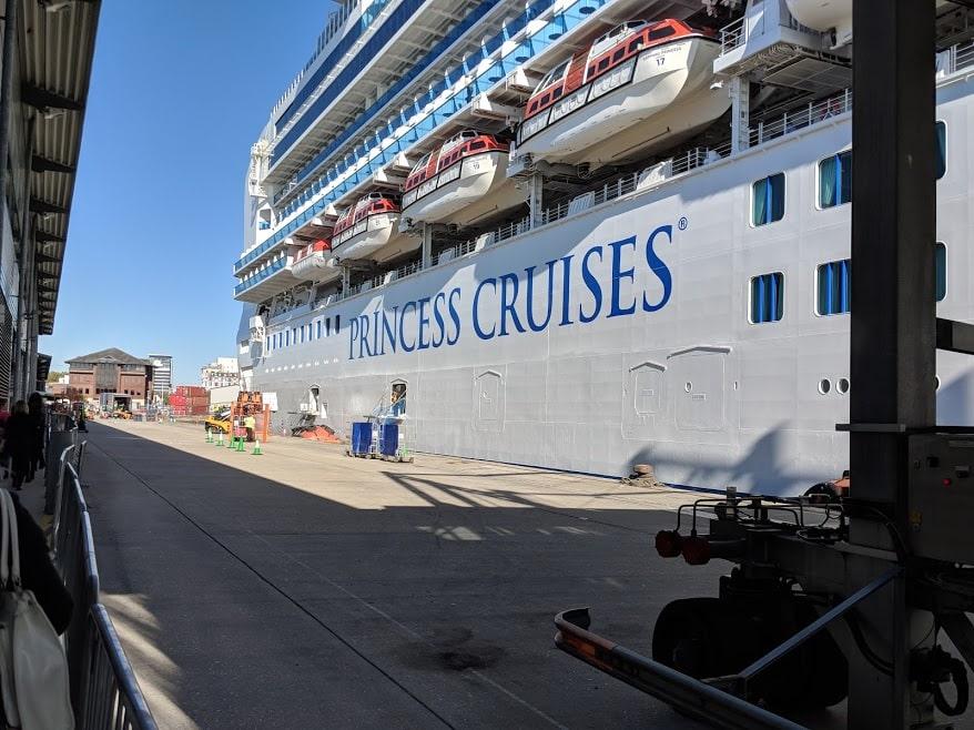 Princess Cruises Sapphire Princess in Southampton