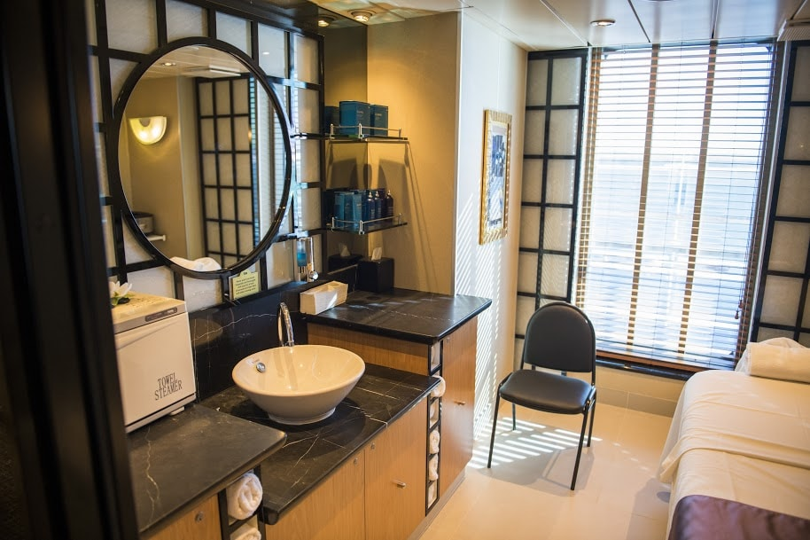 Princess Cruises Ship Shape Program Lotus Spa Mirror Chair Massage Table