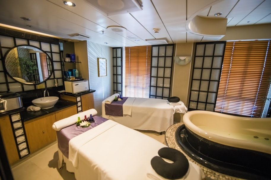 Princess Cruises Ship Shape Program Spa Couples Massage Pool