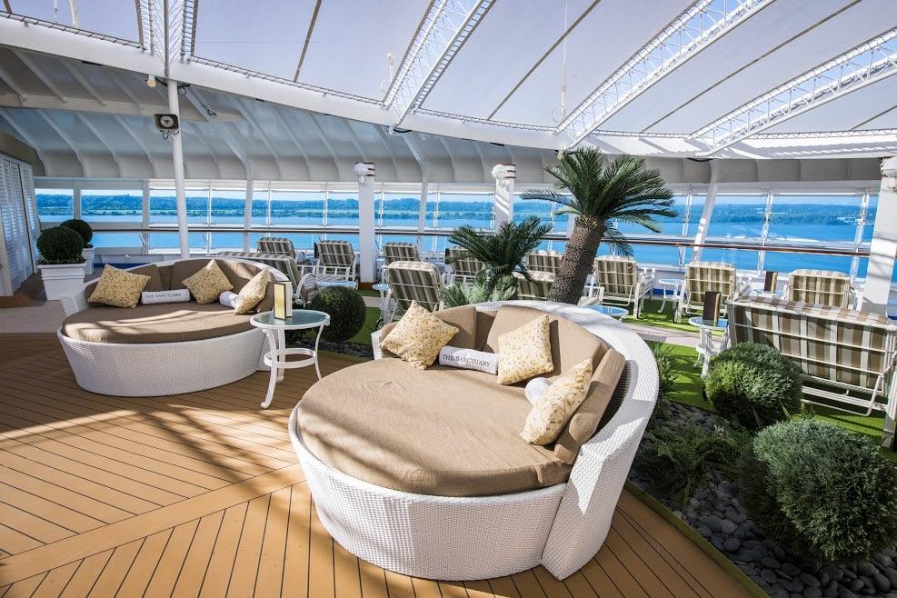 Princess Cruises Ship Shape Program Sapphire Princess Sanctuary Circle Chair