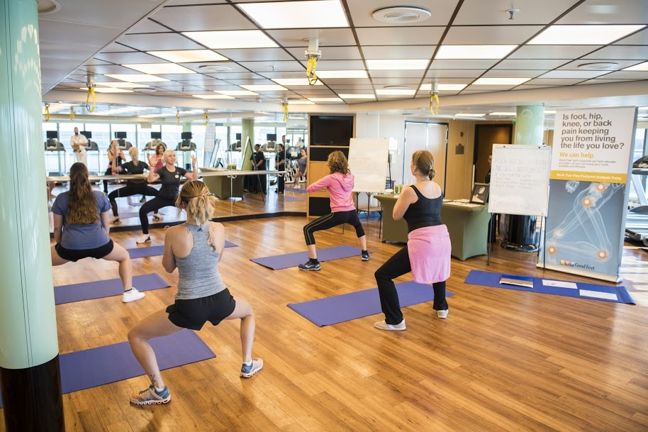 Exercise Classes Princess Cruises Ship Shape Program Yoga Pilates