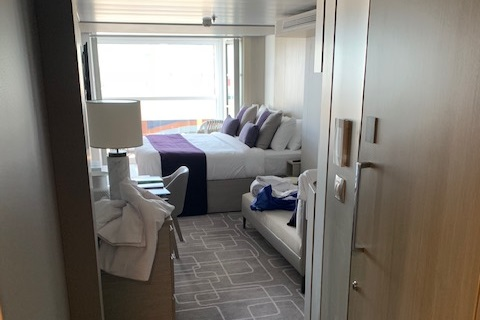 Cabin aboard the Celebrity Edge