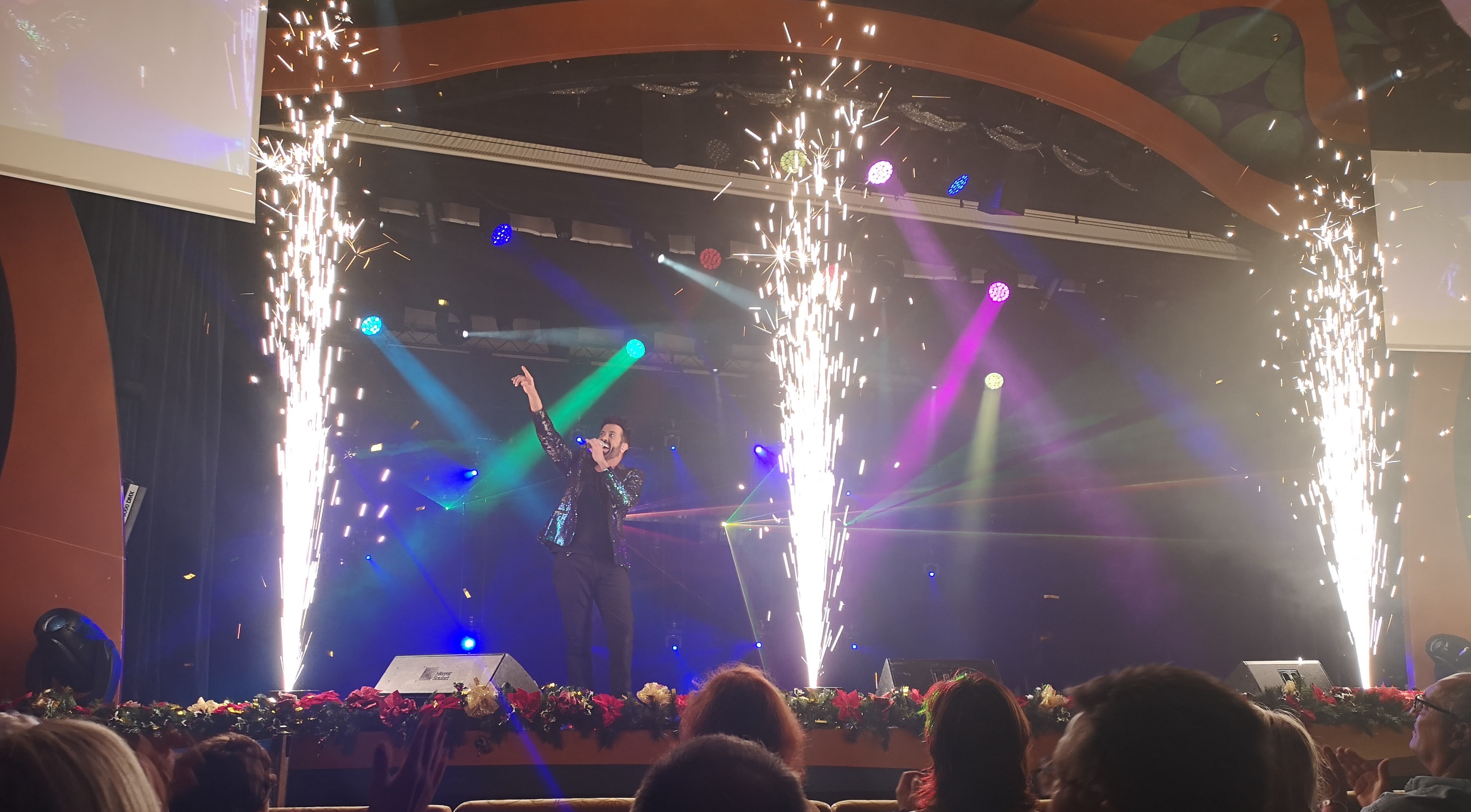 Costa Cruises Entertainment Fire Singing Stage Lights