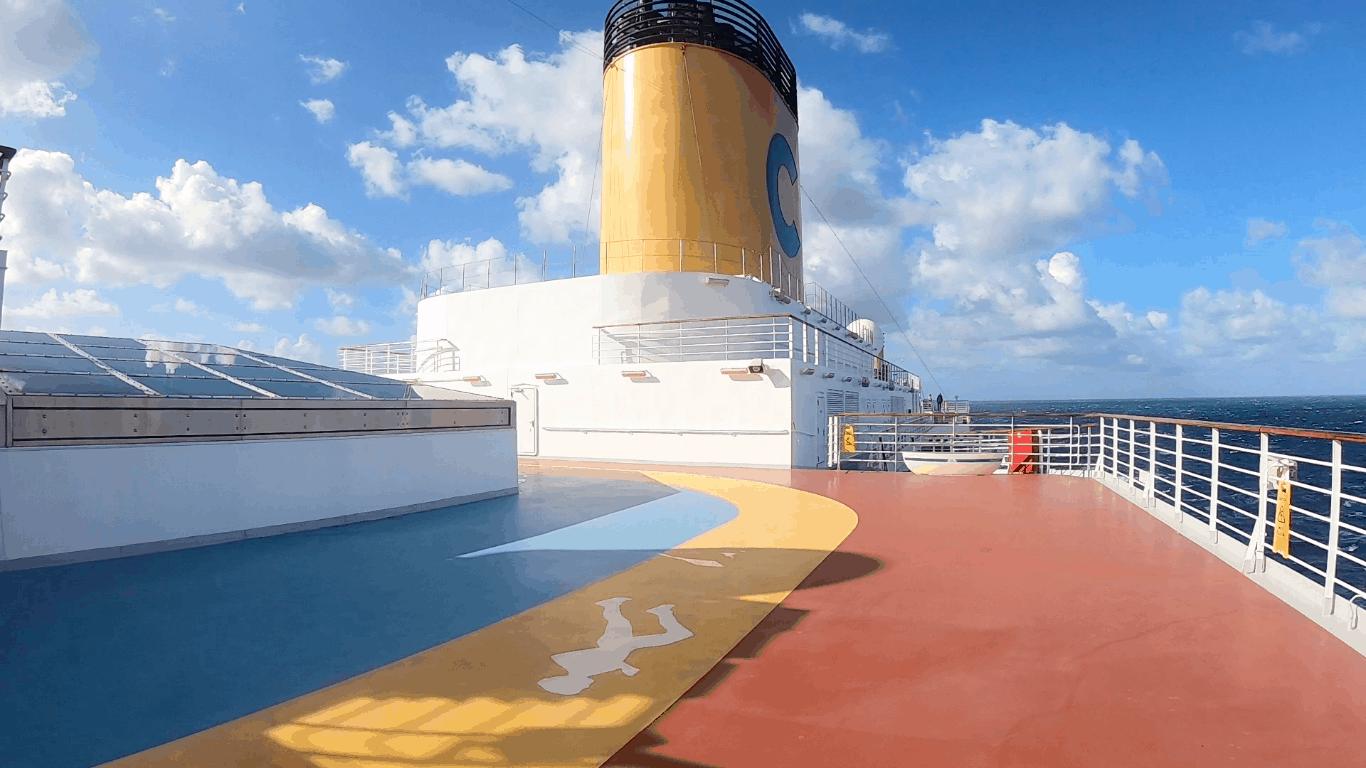 Costa Cruises Luminosa Yellow Funnel Running track