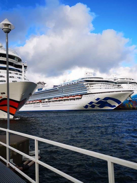 Cruise ships in Tallinn AIDAMar Sapphire Princess and Norwegian Breakaway