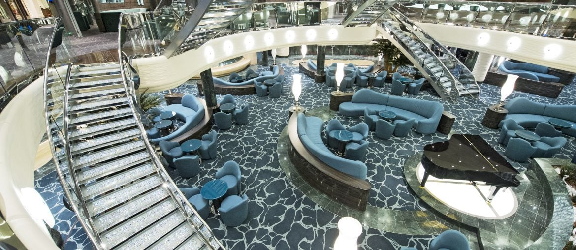 Atrium on board MSC Preziosa