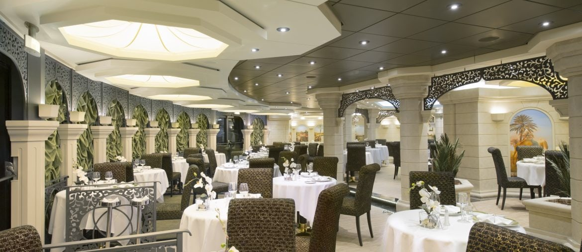 Yacht Club restaurant on board MSC Preziosa